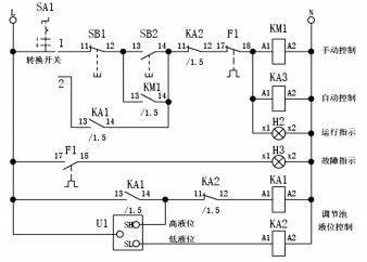 工业污水处理设备的电路及流程图